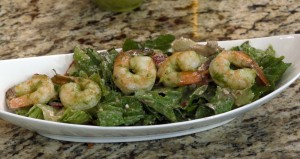 Portabello Pesto Shrimp salad
