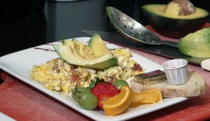 scrambled eggs w avacado