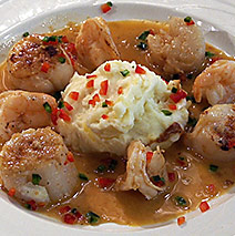 """PENSACOLA BAY WHITE SCAMPI AND """"SALT AND PEPPER"""" SCALLOPS"""