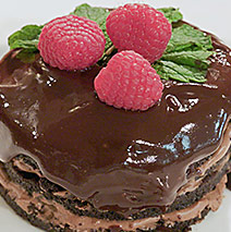 CHOCOLATE MOUSSE LAYER CAKE WITH GANACHE